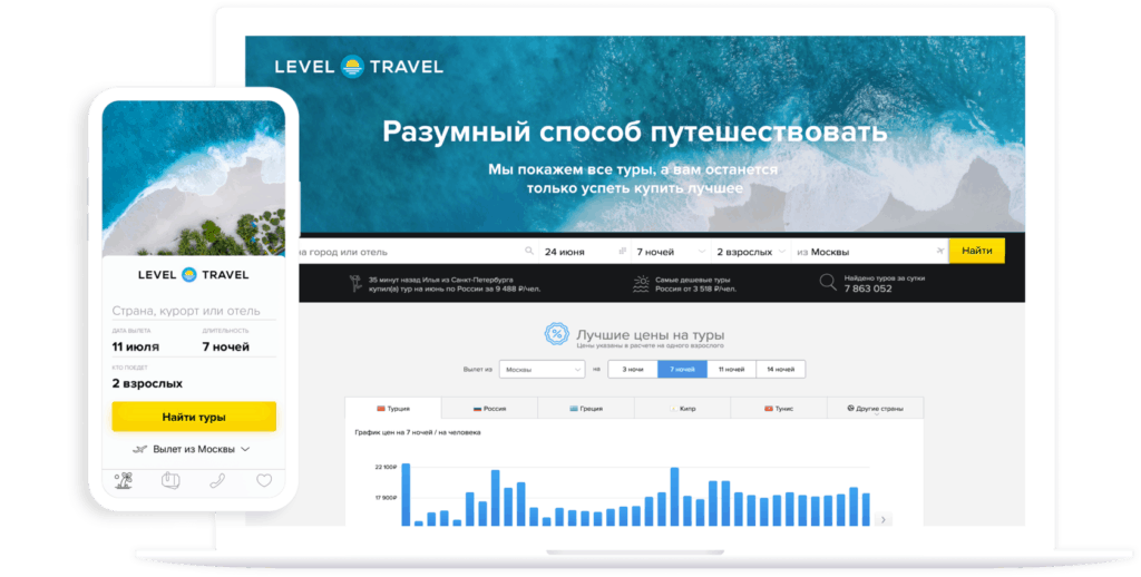 Выгодные туры Level.Travel или Travelata?